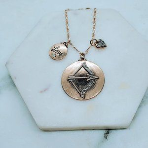 5 for $25 Gold Color Love Coupid Charm Necklace